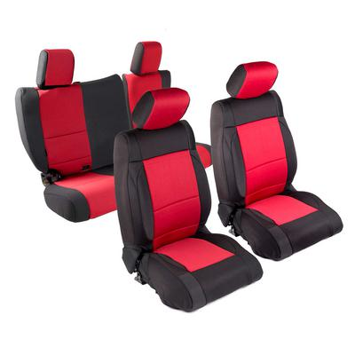 Smittybilt Neoprene Front and Rear Seat Cover Kit (Black/Red) - 471830