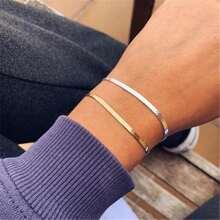 2pcs Simple Chain Bracelet