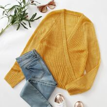 Raglan Sleeve Wrap Sweater Without Camisole
