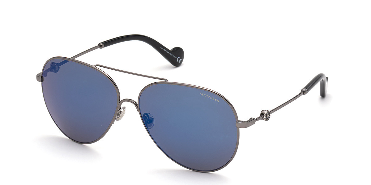 Moncler ML0168 08X Mens Sunglasses Grey Size 60