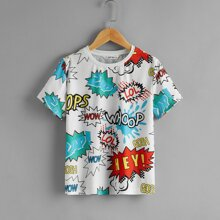 Boys Letter Graphic Top