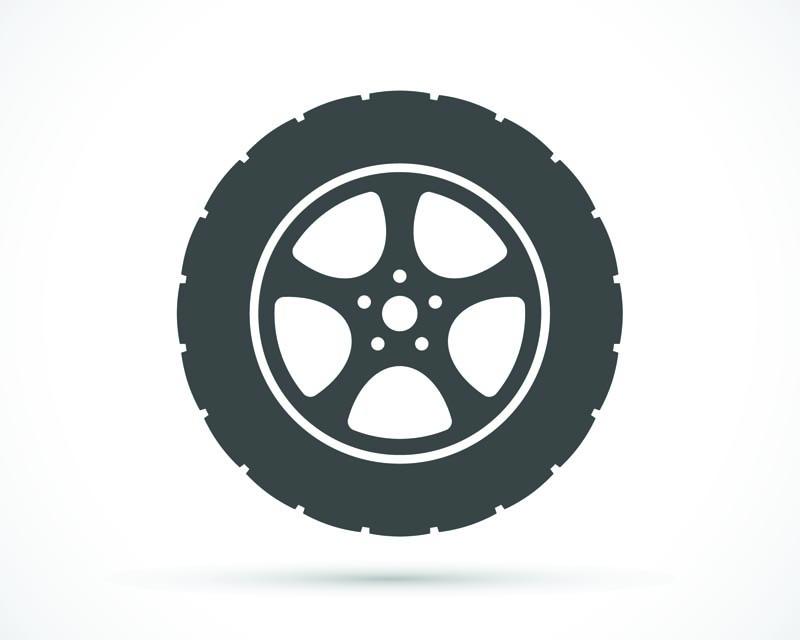 QuadBoss Grinder Wheels 12X7 4/137 5+2 Matte Black/Machined Edge