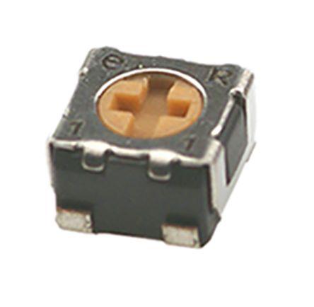 Copal Electronics 2kΩ, SMD Trimmer Potentiometer 0.125W Top Adjust , ST-32 (5)
