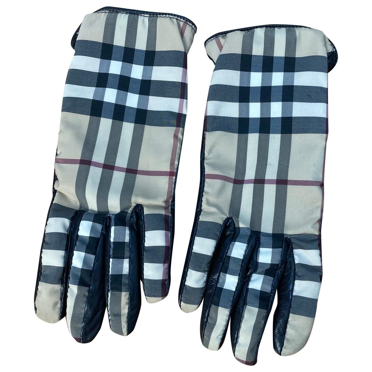 Burberry \N Handschuhe in  Beige Leder