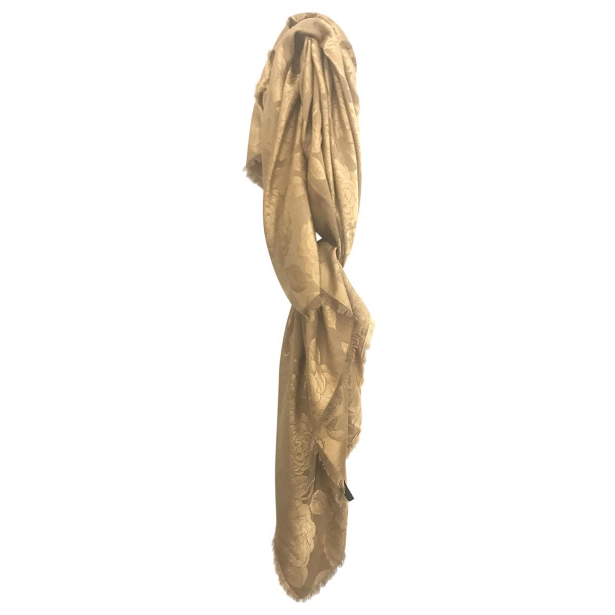 Chanel N Gold Silk scarf for Women N