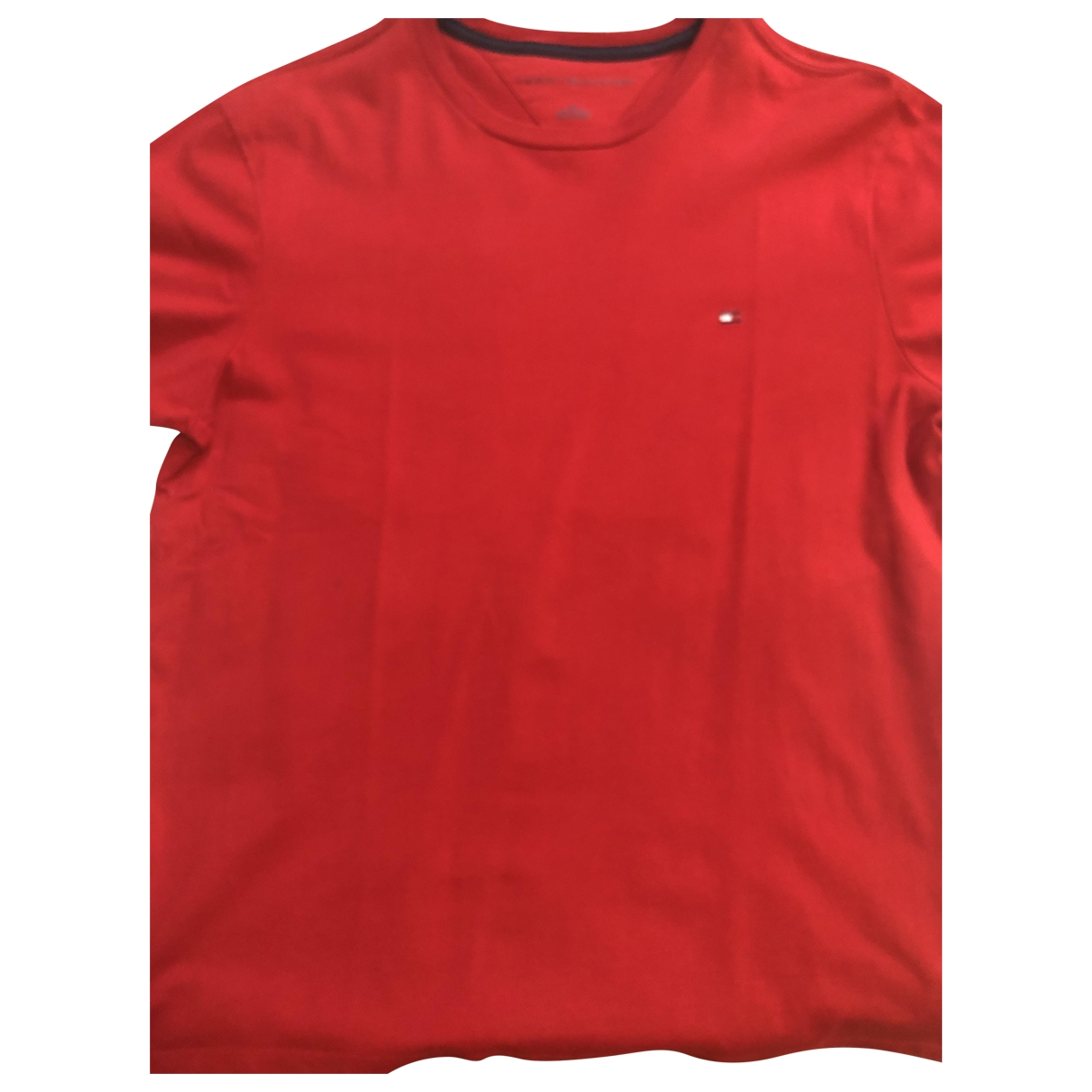 Tommy Hilfiger \N T-Shirts in  Rot Baumwolle