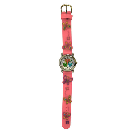 Olivia Pratt Kids Pink Butterfly Strap Watch-17175, One Size , No Color Family