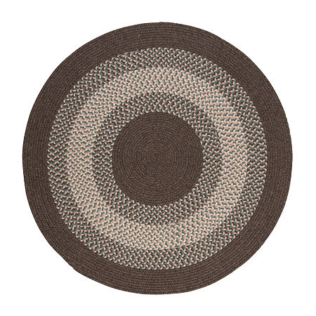 Colonial Mills American Spirit Braided Round Reversible Indoor Rugs, One Size , Brown