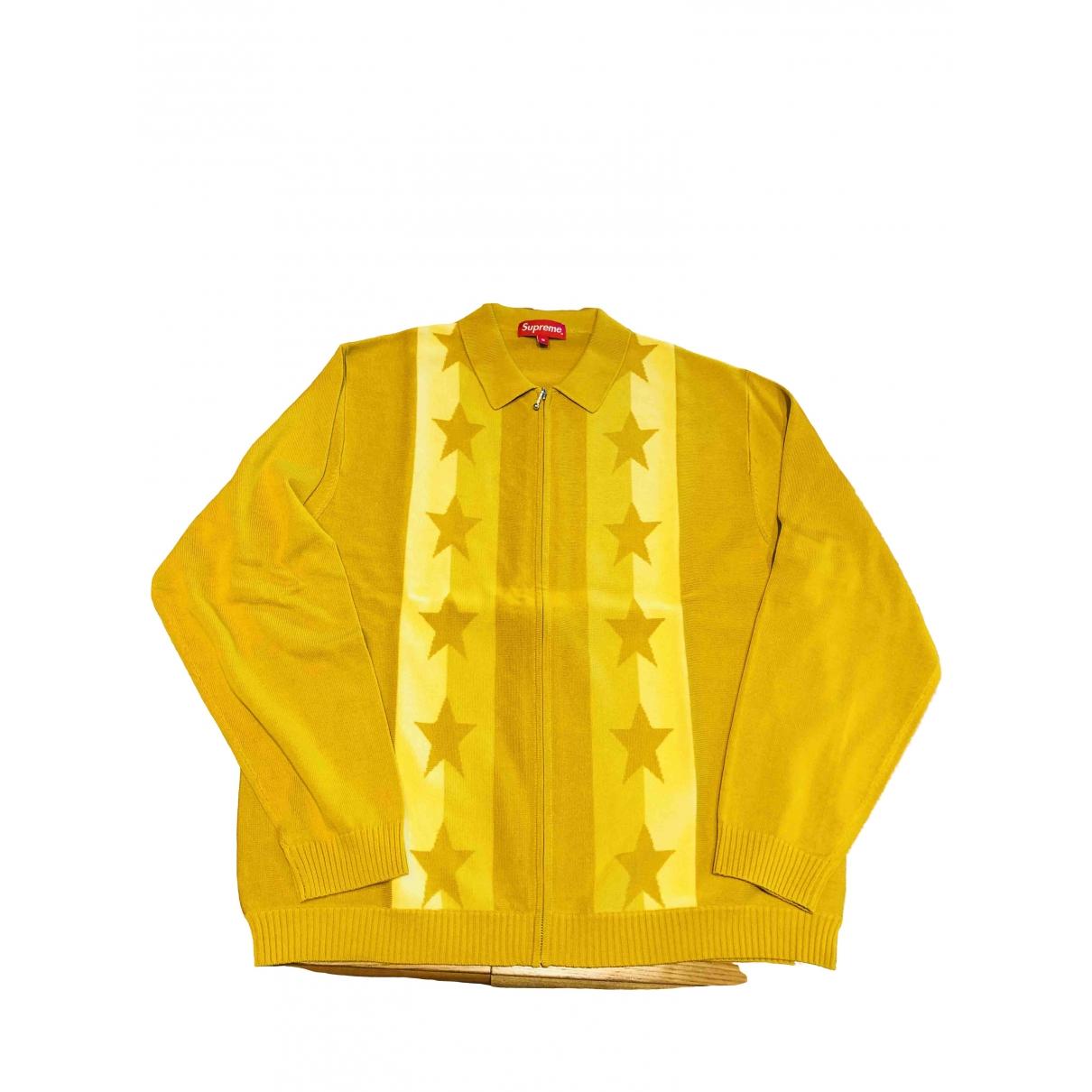 Supreme \N Pullover.Westen.Sweatshirts  in  Gold Baumwolle