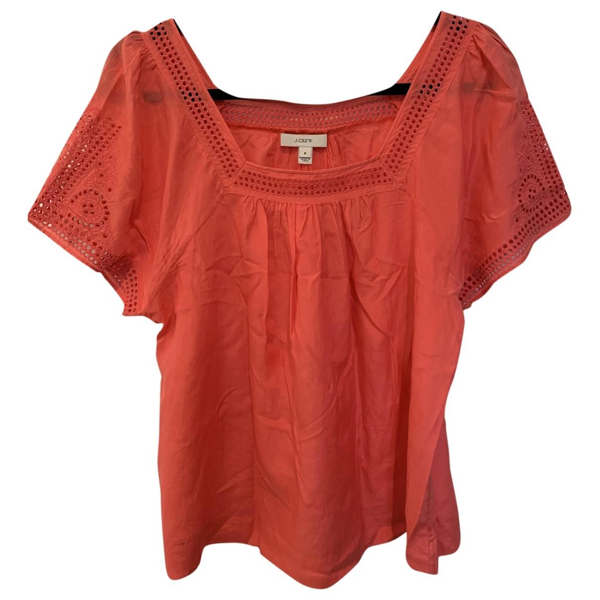 J.crew \N Orange Cotton  top for Women 8 US