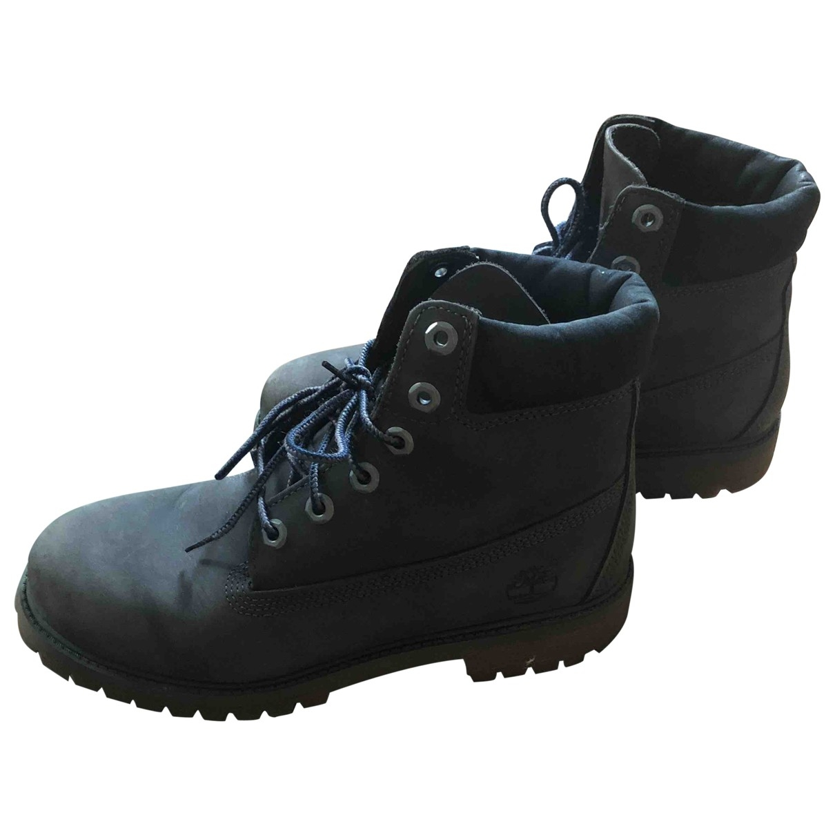 Timberland \N Grey Leather Boots for Men 39 EU