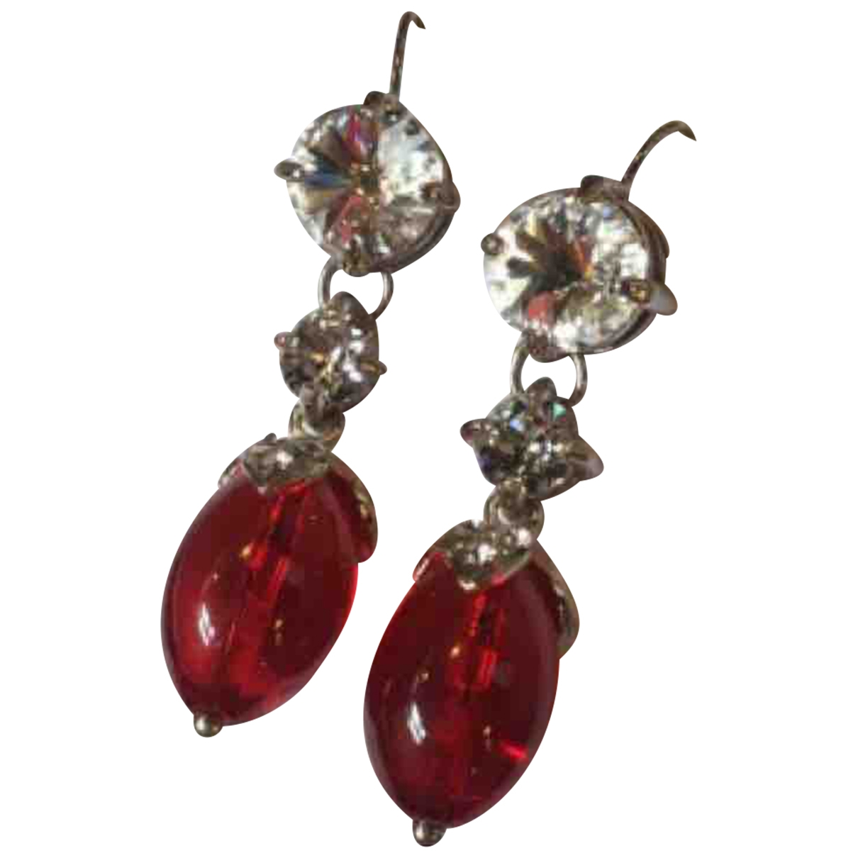 Miu Miu \N Red Metal Earrings for Women \N