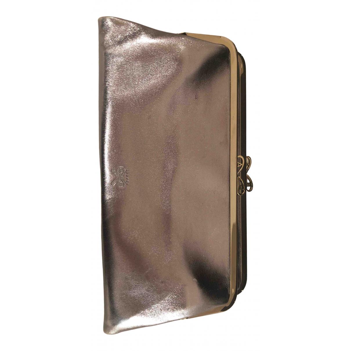 Anya Hindmarch N Silver Leather Clutch bag for Women N