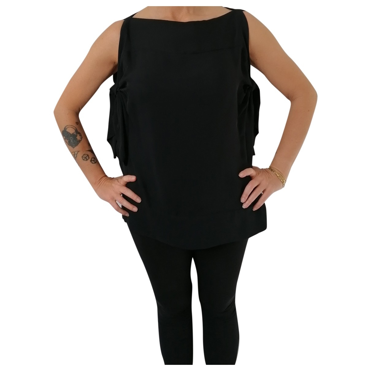 Prada \N Black Silk  top for Women 40 IT