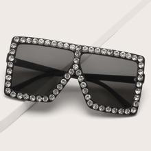 Sonnenbrille mit Strass Dekor
