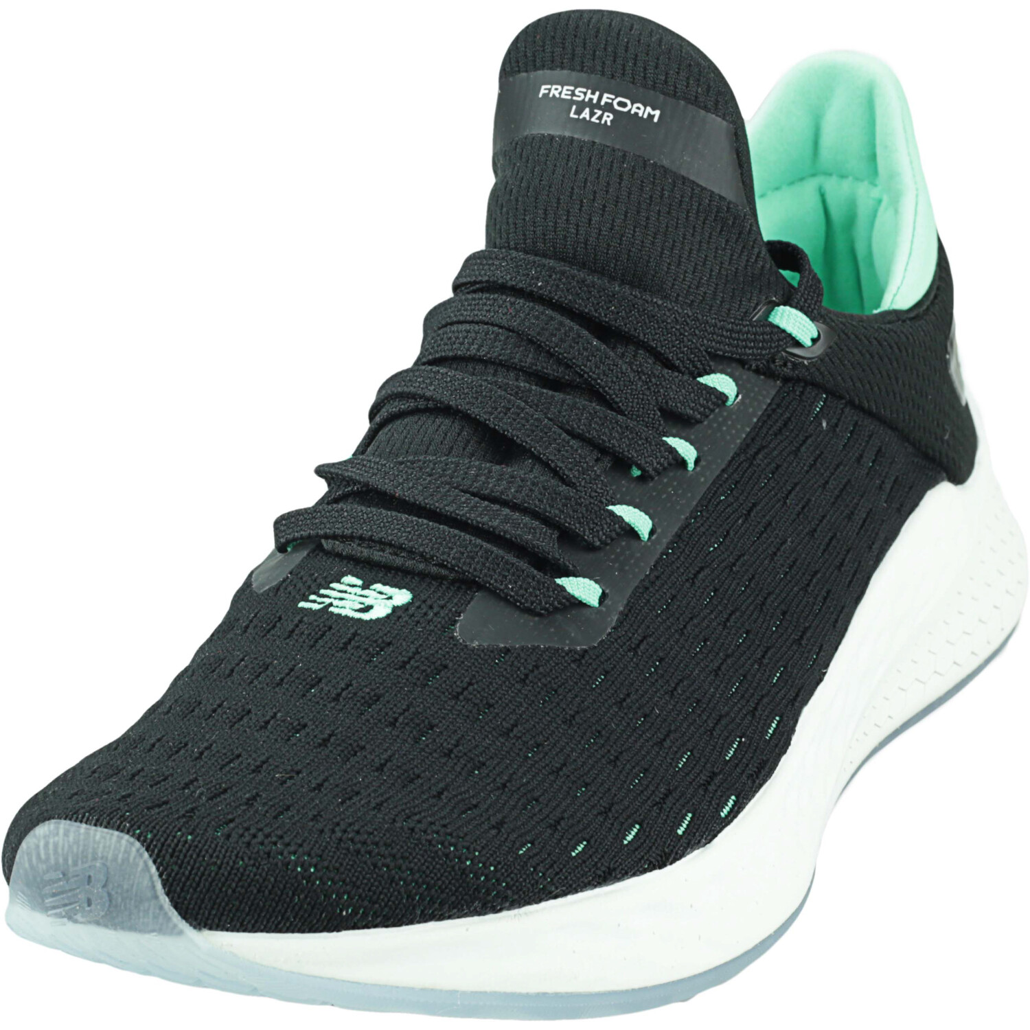 New Balance Men's Mlzhk Black / Neon Emerald Low Top Mesh Running - 8W