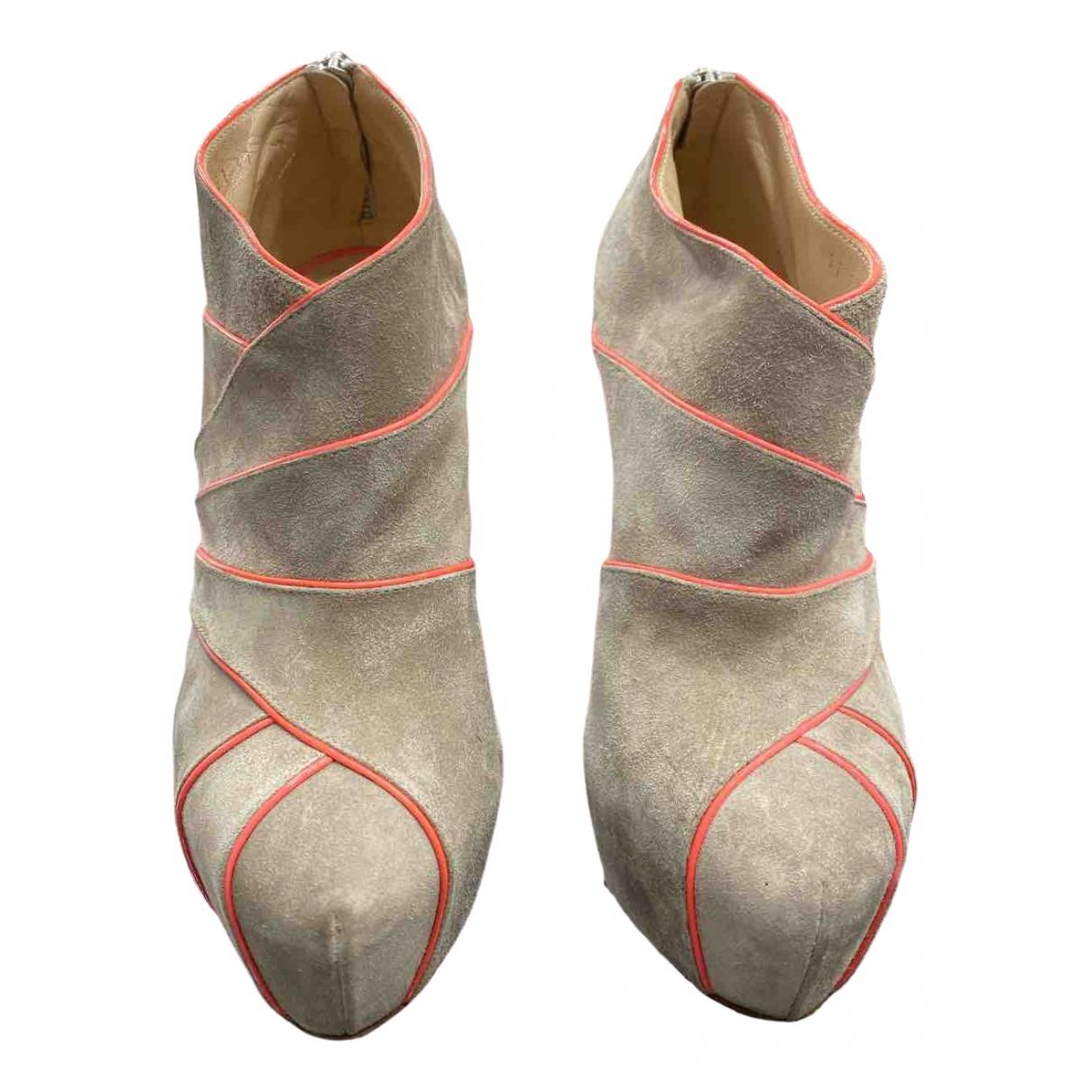 Casadei \N Stiefeletten in  Grau Leder