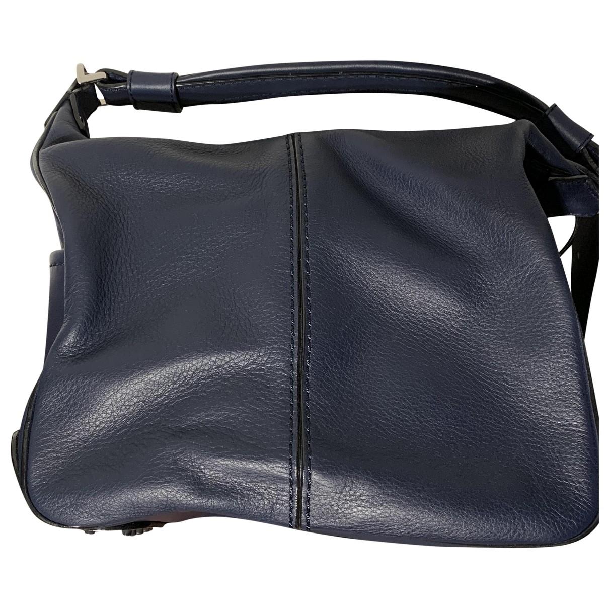 Tods \N Blue Leather handbag for Women \N