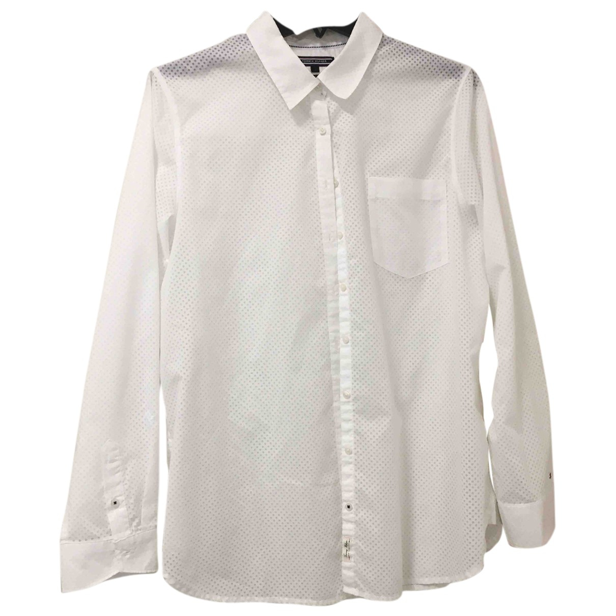 Tommy Hilfiger N White Cotton  top for Women 12 UK