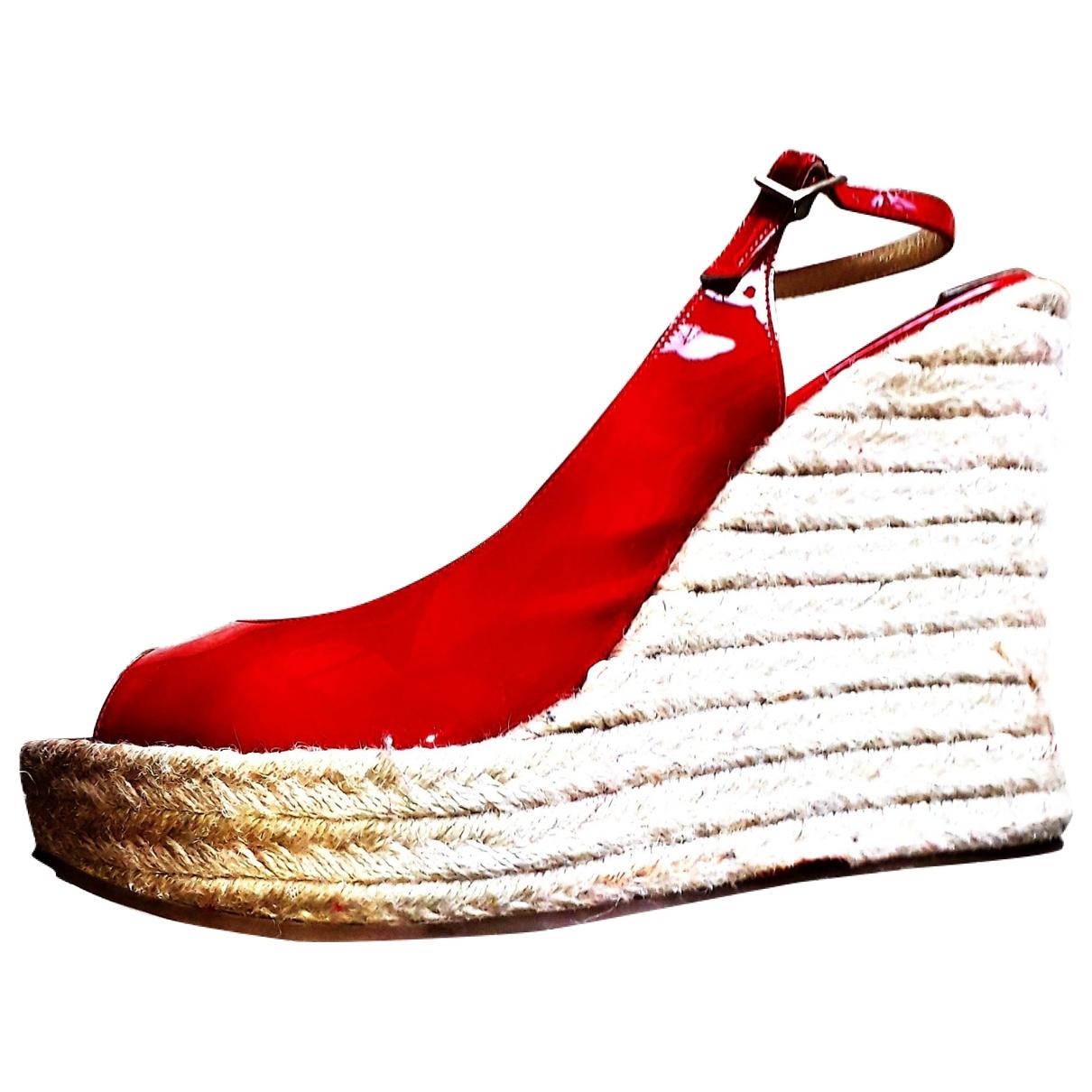 Jimmy Choo \N Sandalen in  Rot Leder