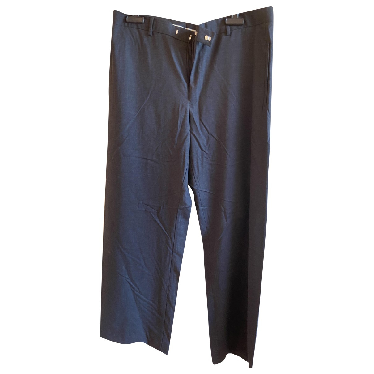 Emporio Armani \N Grey Wool Trousers for Men 54 IT