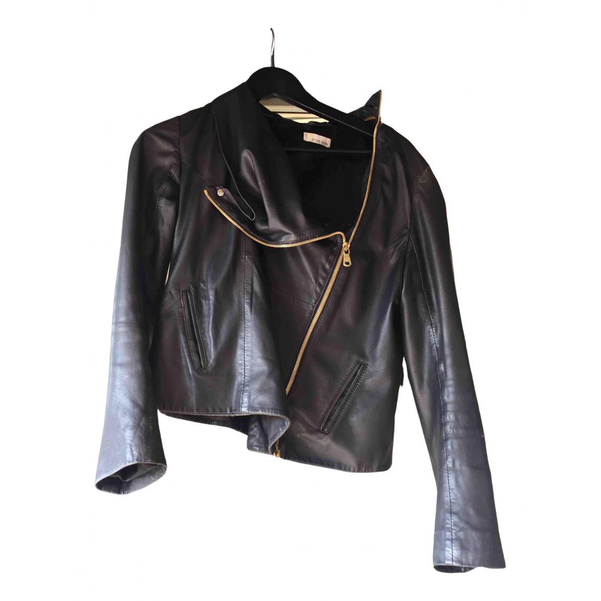 Stine Goya \N Lederjacke in  Schwarz Leder