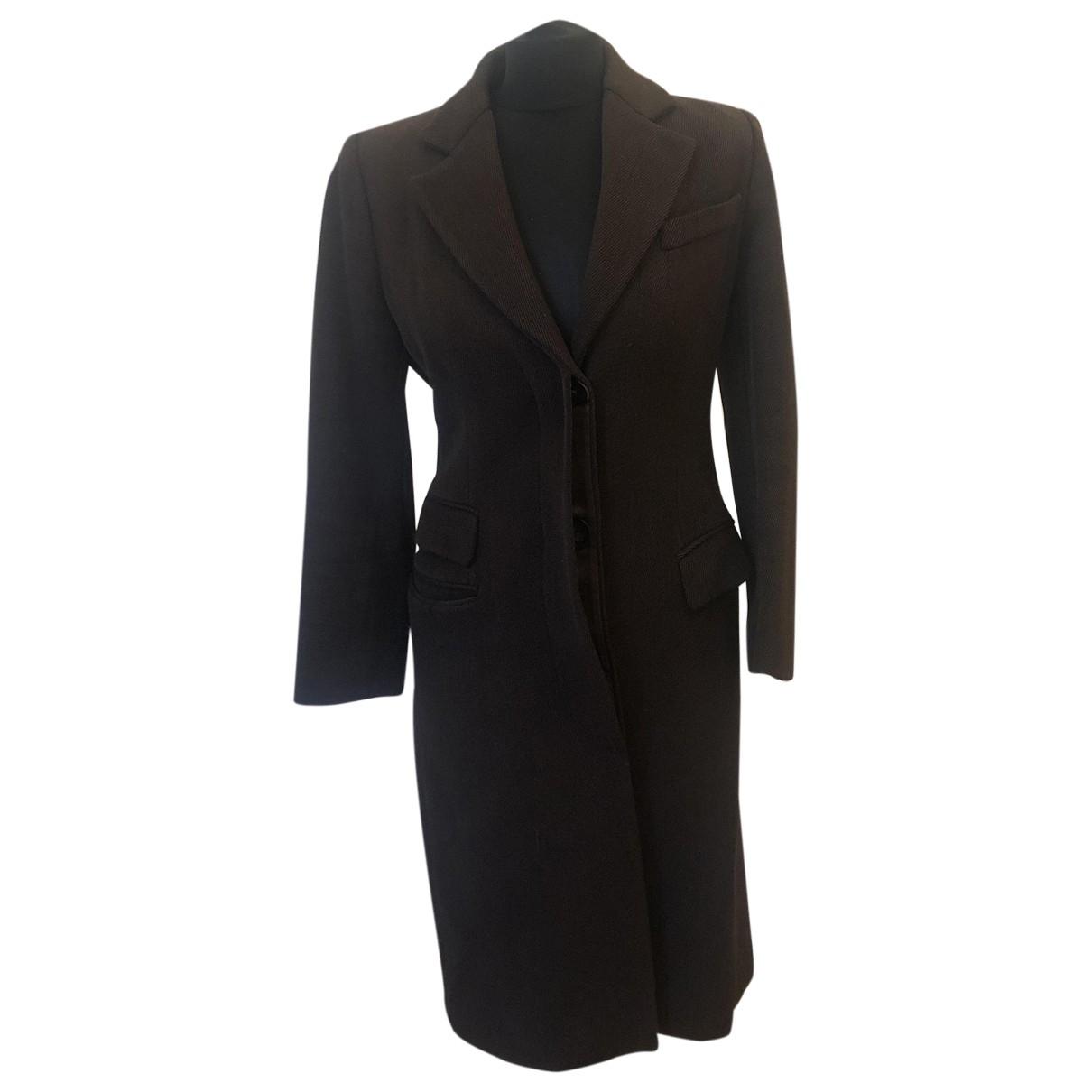 Gucci - Manteau   pour femme en laine - marron