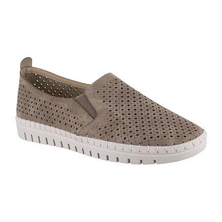 Easy Street Womens Fresh Slip-On Shoe, 5 1/2 Medium, White