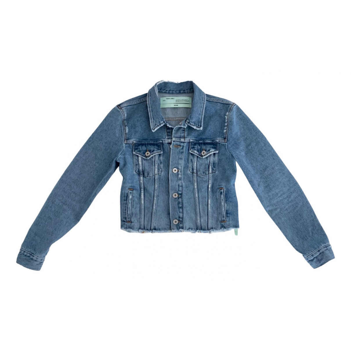 Off-white \N Blue Denim - Jeans jacket for Women 42 IT