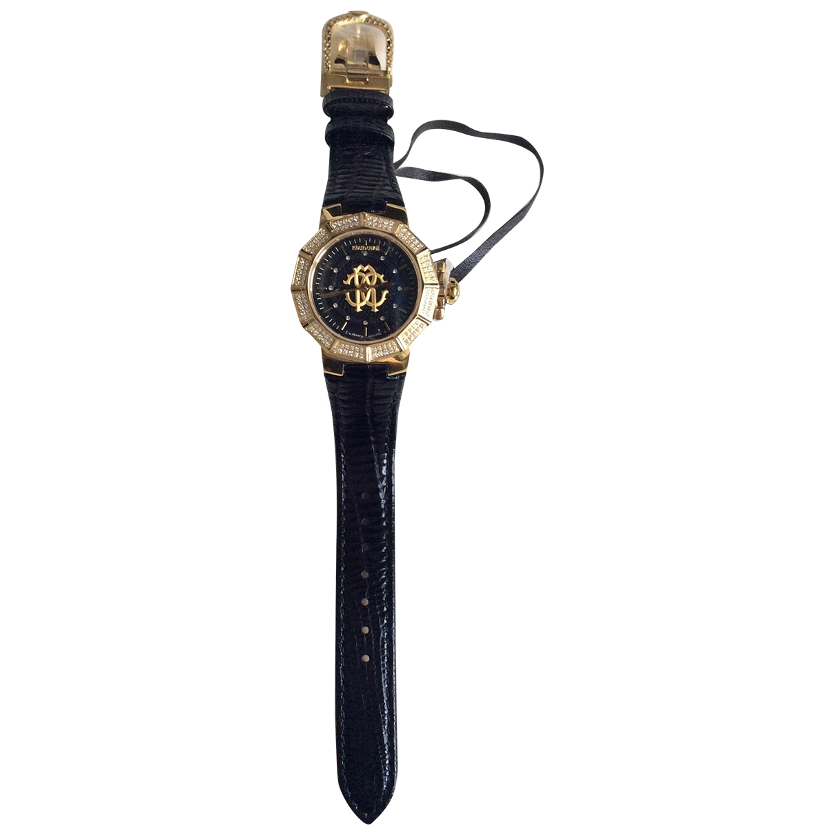 Roberto Cavalli \N Black Steel watch for Women \N