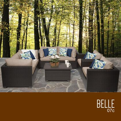 BELLE-07c Belle 7 Piece Outdoor Wicker Patio Furniture Set 07c with 1 Cover in