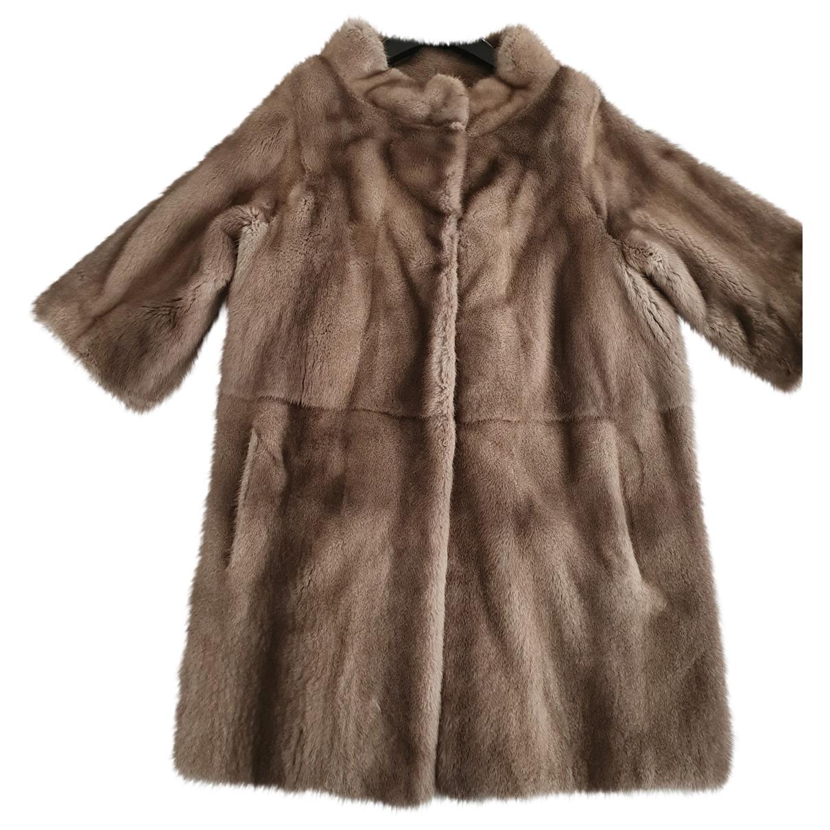 Simonetta Ravizza \N Grey Mink coat for Women 40 IT