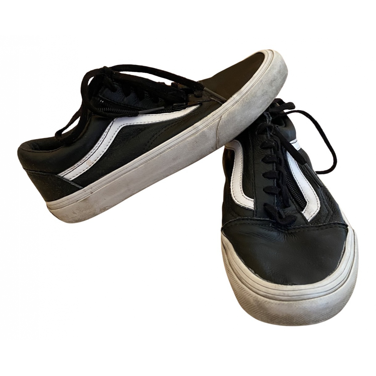 Vans N Black Leather Trainers for Women 38 EU