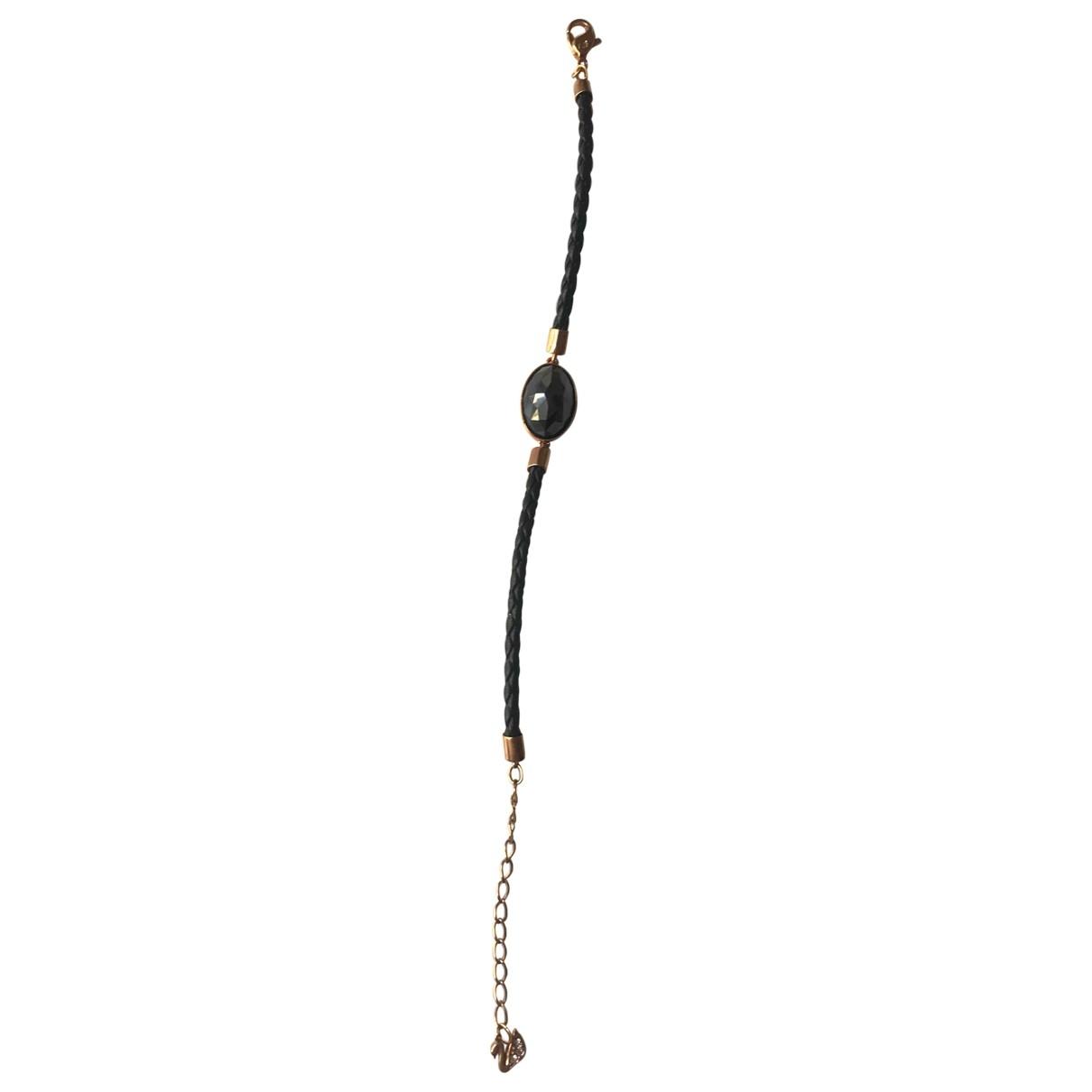 Swarovski \N Armband in  Schwarz Rosegold