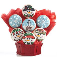 Winter Wishes Gluten Free Cookie Bouquet