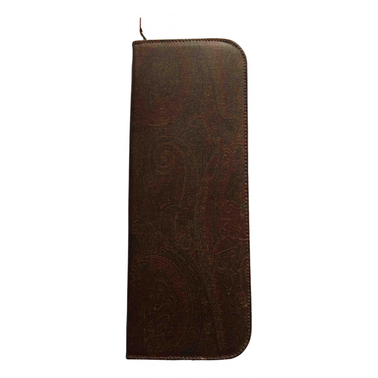 Etro - Objets & Deco   pour lifestyle en cuir - marron