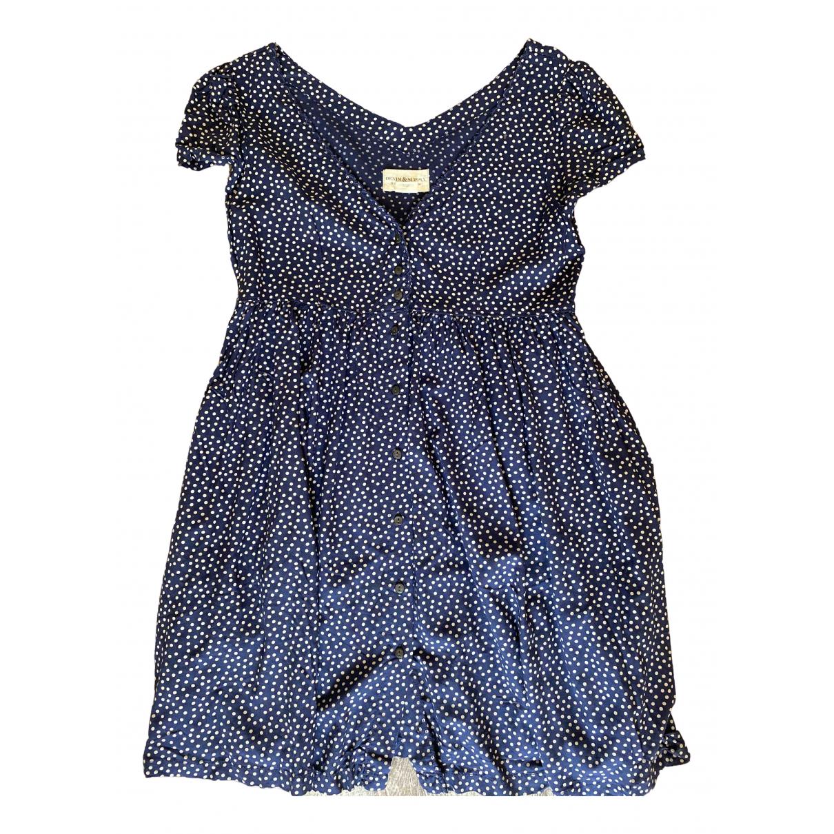 Ralph Lauren Denim & Supply \N Kleid in  Blau Viskose