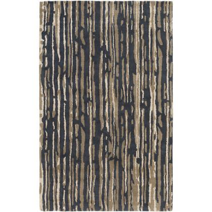 CAN2075-913 9' x 13' Rug  in Black and Cream and Tan and Dark