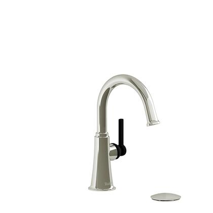 Momenti MMRDS01LPNBK-10 Single Hole Lavatory Faucet with L Lever Handle 1.0 GPM  in Polished