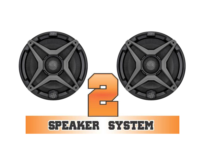 SSV Works COMMANDER-2 Complete 2 Speaker System Can-Am Commander Max 1000 XT
