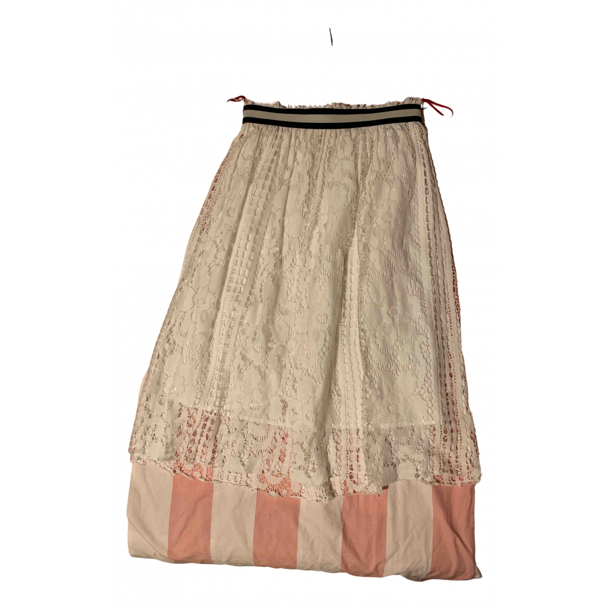 Jucca \N White Cotton skirt for Women 40 IT