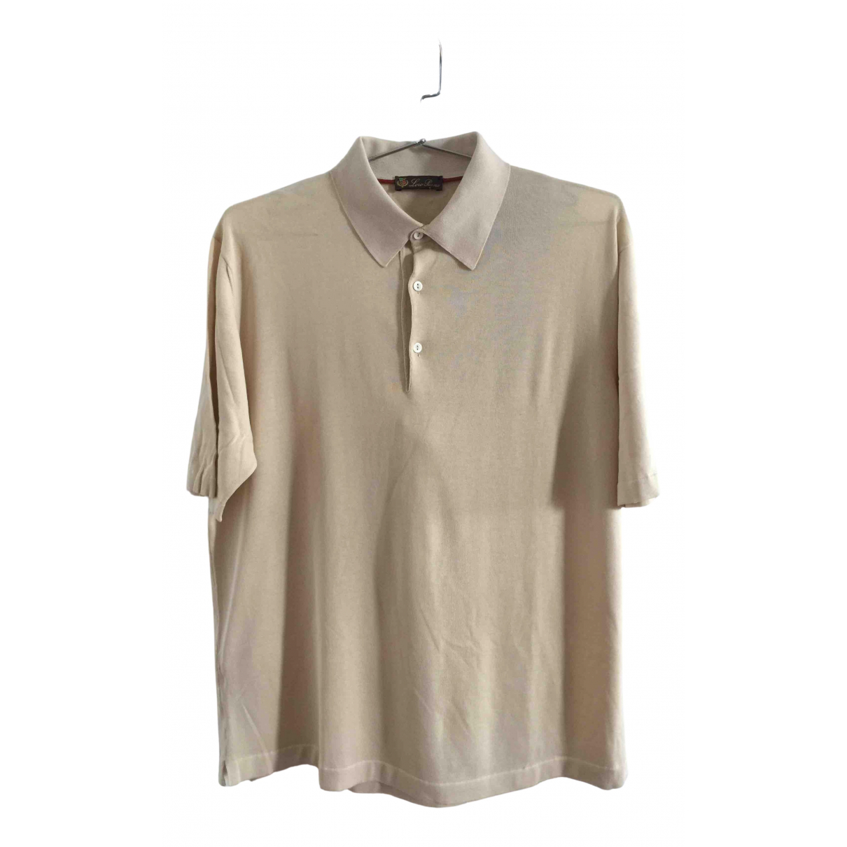 Loro Piana \N Beige Cotton Polo shirts for Men 56 IT