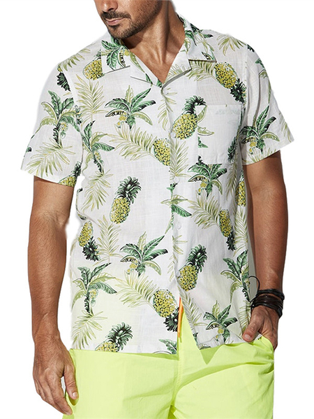 Yoins INCERUN Men Tropical Button Up Shirt