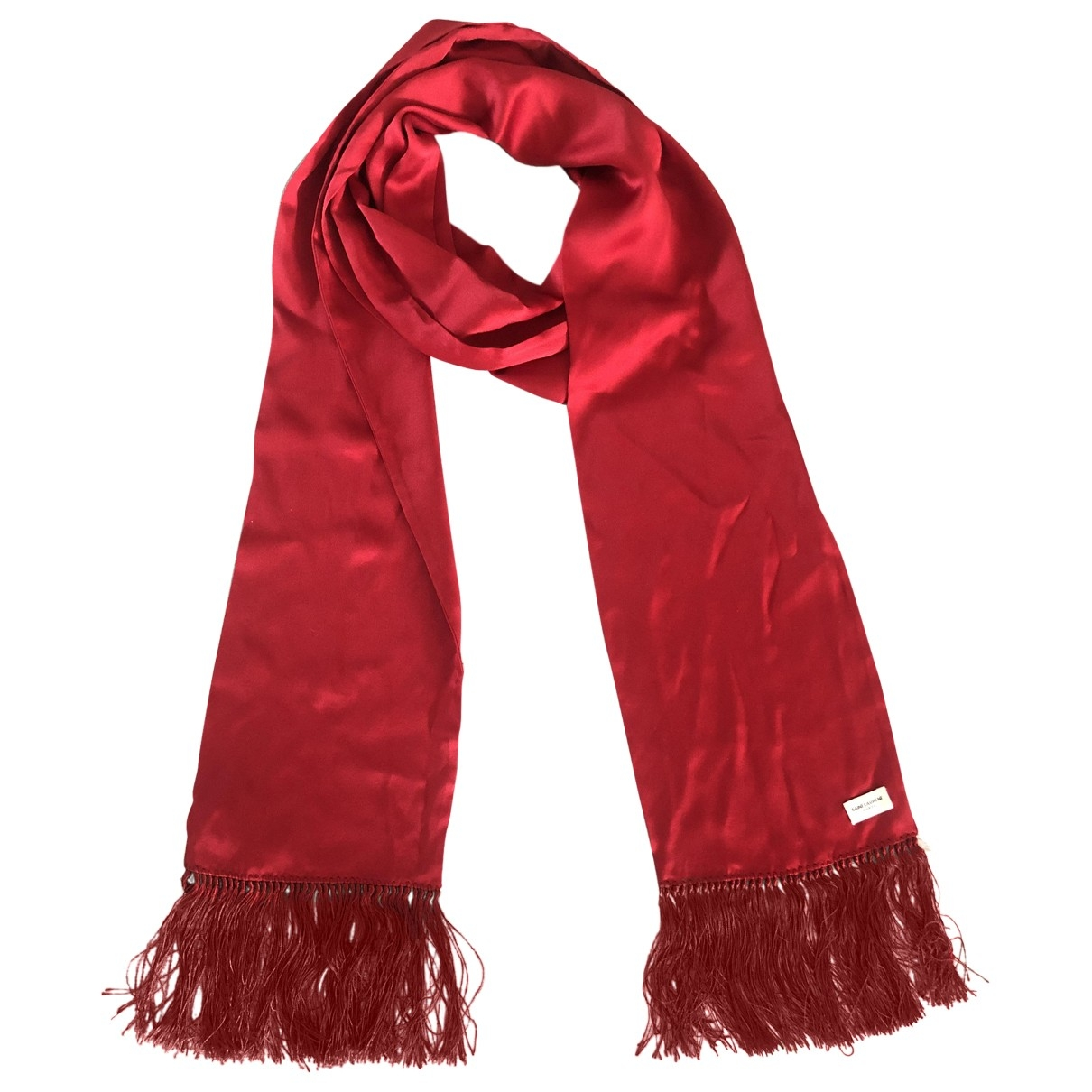 Saint Laurent \N Red Silk scarf for Women \N