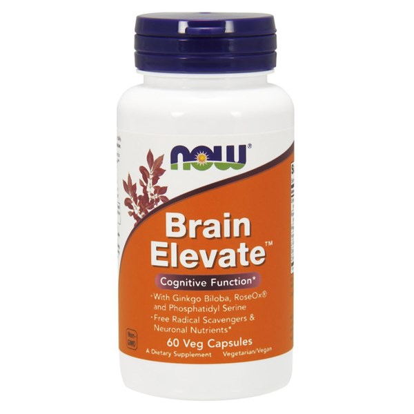 Brain Elevate Formula 60 Vcaps by Now Foods