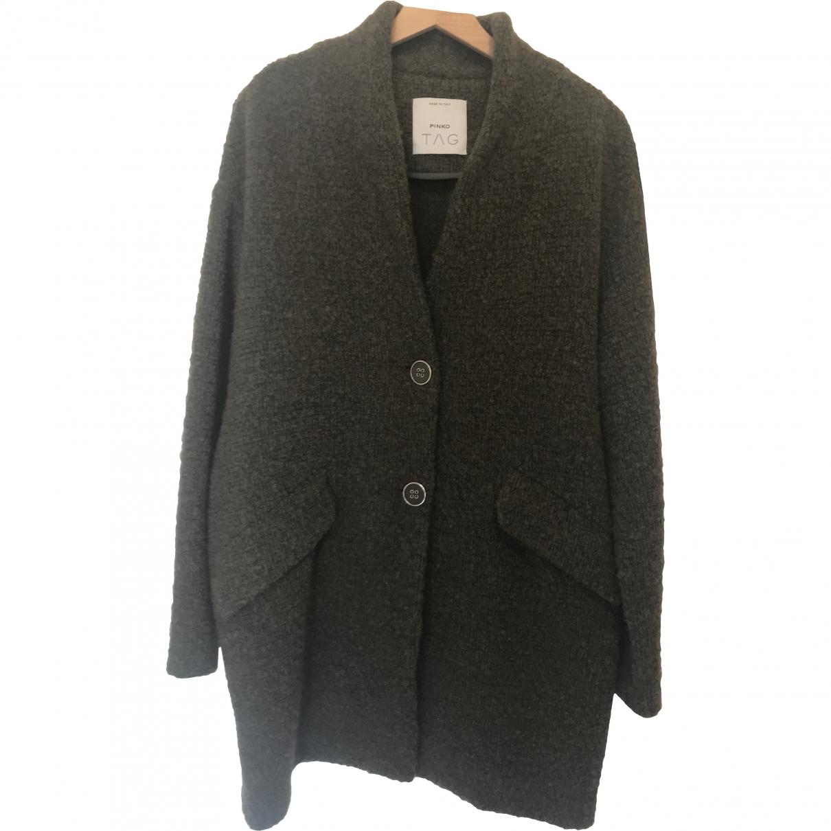 Pinko \N Maentel in  Khaki Wolle