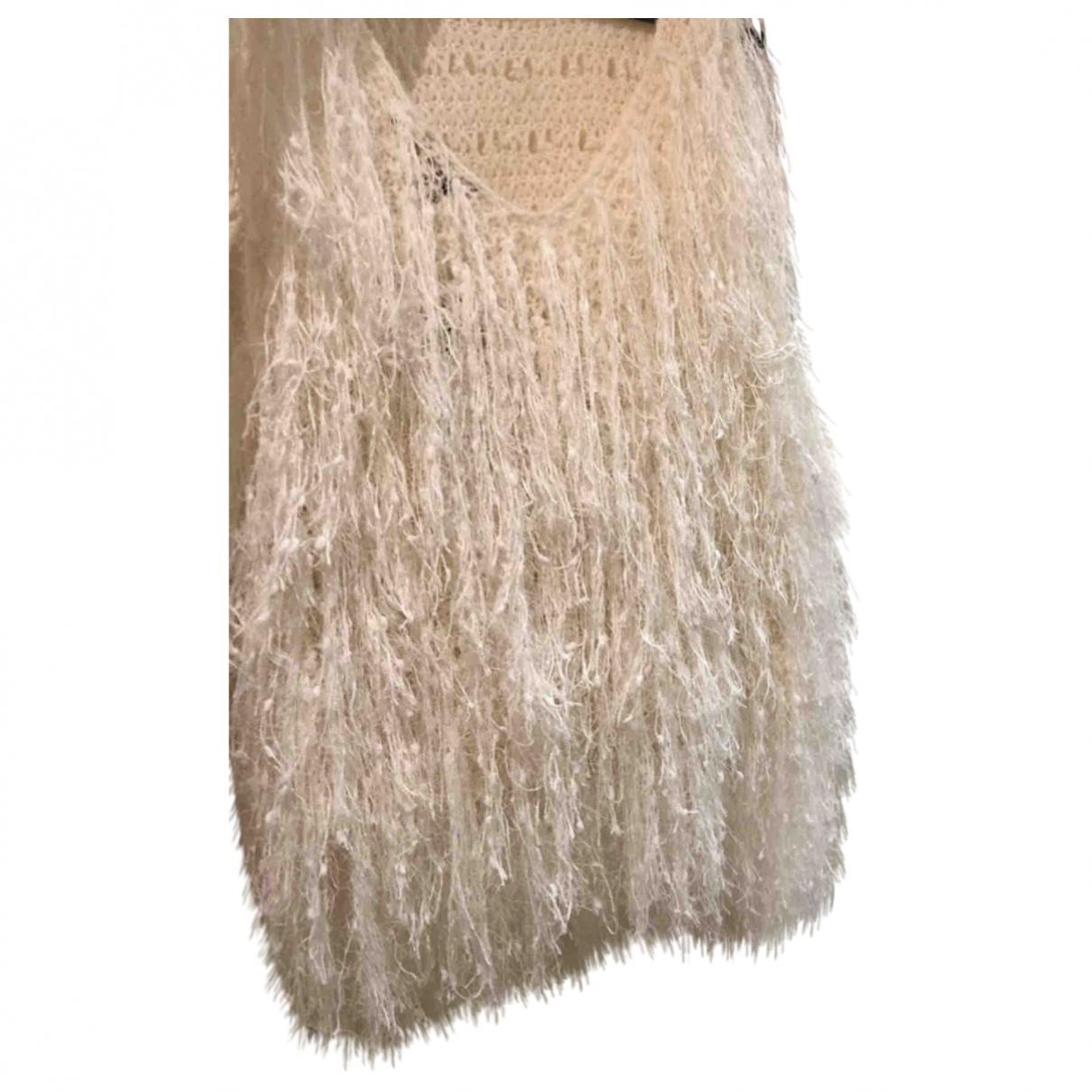Dkny - Pull   pour femme en laine - beige