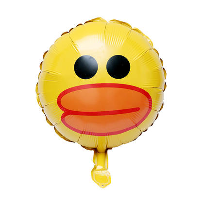 Foil Balloon Mini Sally Duck Mylar Helium Balloon Party Decor, 17.5