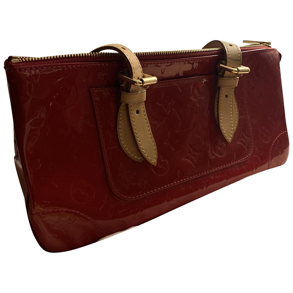 Louis Vuitton - Sac a main Rosewood pour femme en cuir verni - rouge