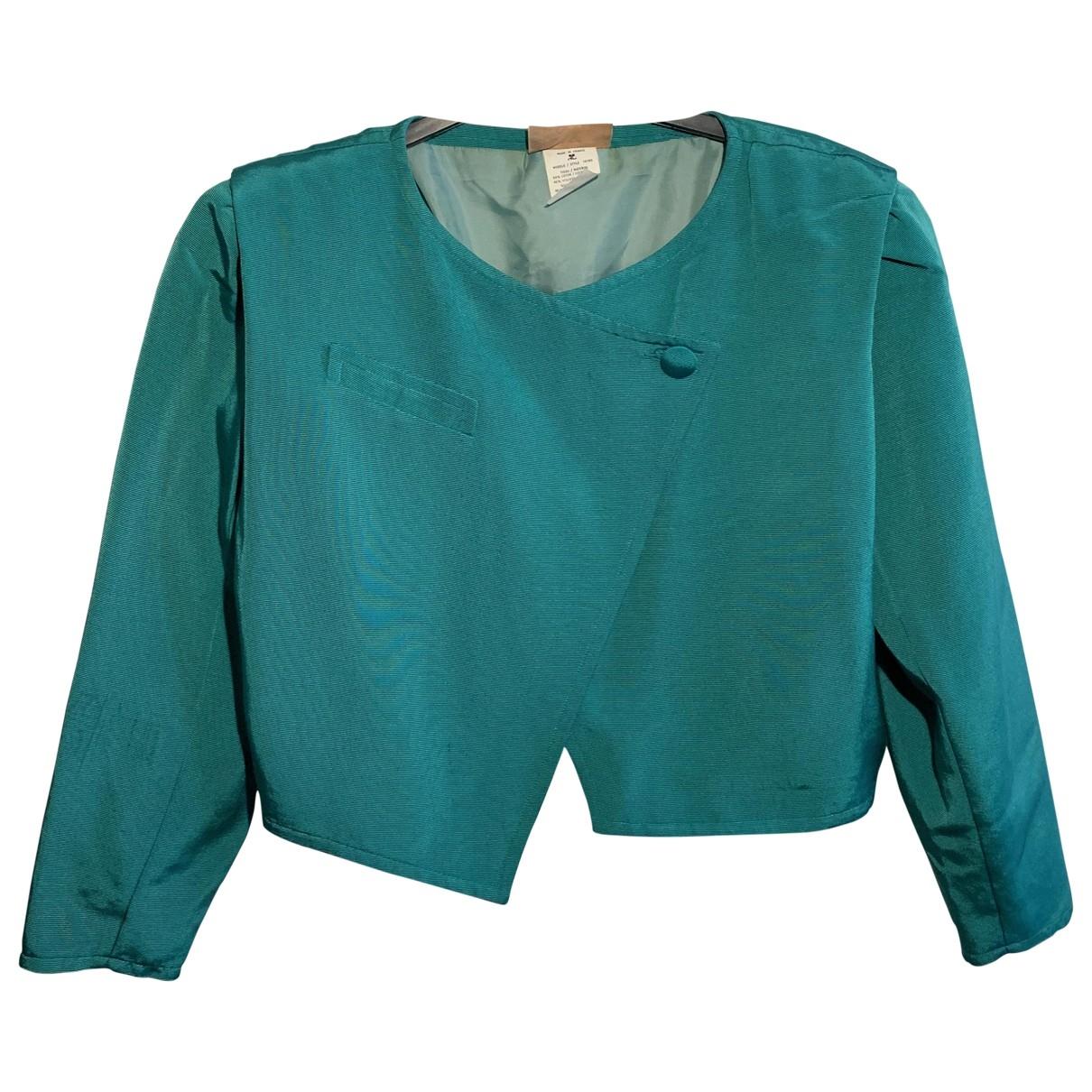 Courrèges \N Turquoise Cotton jacket for Women 36 FR